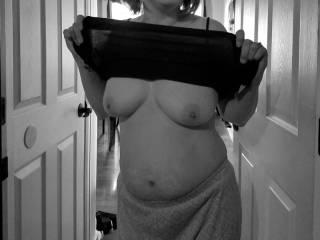 Flashing hubby my tits
