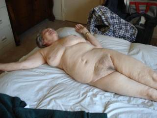 You have such a wonderful body, and having a taste of that beautiful mature hairy pussy would be a dream come true.
