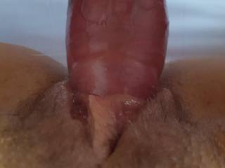 Filling her wet pussy with my fat cock