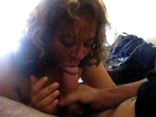 I love how she looks up near the end....  If I was the guy waiting his turn, I'd be laying under her eating her pussy while she was sucking the cum out of the other cock!!!!