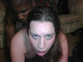 hmmmm love that face of her taking the bbc... would love to cum all over that!