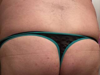My butt in a pair of sexy lacy thong girlie panties;)