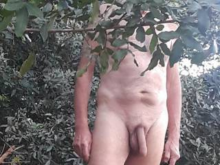 My cock and I enjoying the great outdoors.