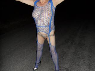 Hi all hubby is enjoying daring me to walk along the road hope you all like them dirty comments welcome mature couple