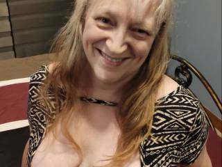 Thanks for all the birthday wishes! The only thing left is for you to cover these married tits with your love. Give me a nice cumload that gets my blouse nice and wet, too. Mmm... Waiting for your hot, wet, creamy load!