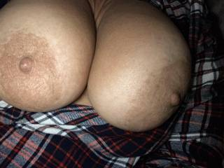 She loves showing her fun bags. Could you suffocate on these melons??