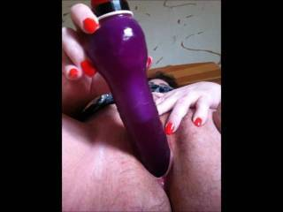I'm happy to hear you say this vibrator is too big...that means my modest cock should be just about perfect for you. Thank you for pausing to spread your pussy for your viewer's pleasure...my cock always gives a kick when I see you do that...