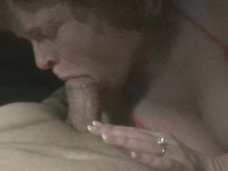 Nice, Yr wife sucks cock well. Once she's finished sucking yr cock she can suck mine., andI'll pish a big load of spunk into her mouth. Wd u enjoy watching yr wife sucking my cock off?