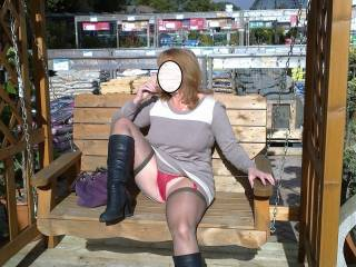 Awesome upskirt shot love your red panties x