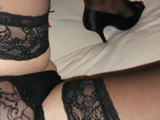 For me to kiss my way up your legs and tease your sweet pussy with my warm breath, lips and tongue through your sexy knickers