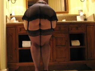 your ass is amazing. can we see more? i would love to fuck your perfect ass bent over that table