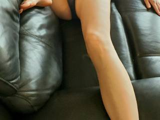 Getting ready for some couch sex