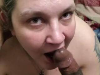 Sucking a big beautiful cock