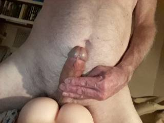 Stuck at home because of virus. Worked  out an exercise routine which I can do at home and thought it would be good to finish on a fuck using my artificial  vagina. Good exercise and nice climax. Helps to relieve the stress.