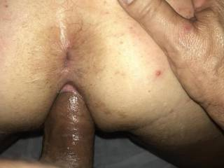 Smacked her ass and stretching her out