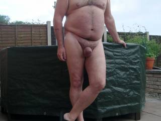 Hubby nude outdoors