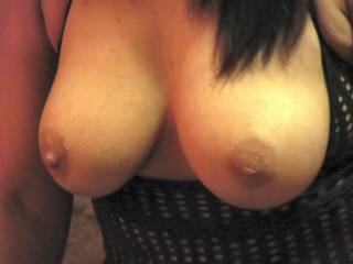 Wow!  Absolutely perfect tits...size, shape, deliciously hard nipples and beautiful skin!!  Great pic, adding it to my favorites!