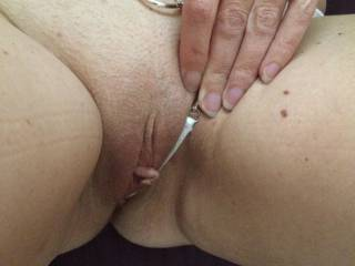 Wooow..this beautiful piece of pussy really need to be licked hard and long.... While fingering your sweet ass...and then...start to slowly push a nice ..(read: mine) ciock deep in you..
