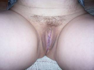 creamy pussy...great great body...wish i was eating her out now..and kissing those thighs.mmmmm   and of course getting my dick in her..!  mr schmoopy