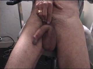 nice cock and cum shot, love that loose ball bag too