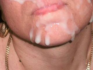 Great facial!  All that cum must make yr skin soft.