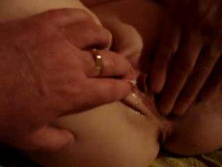 Fingering Emma\'s wonderful wet pussy while I was with them for a threesome