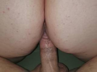 Love feeling his cock buried in my pussy with every thrust until  he unloads his seed in my pussy