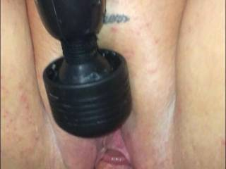 Clit being vibed while getting fucked