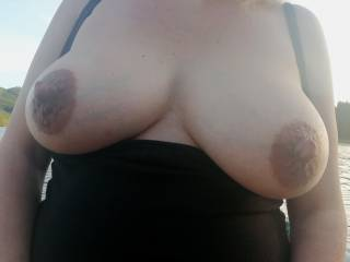Who wants to suck and play with my big nursing tits?