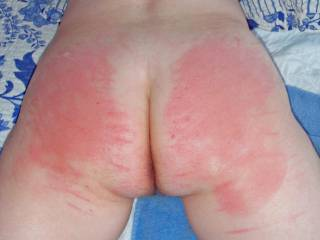 A brutal Spanking/Caning, then some anal sex afterwards