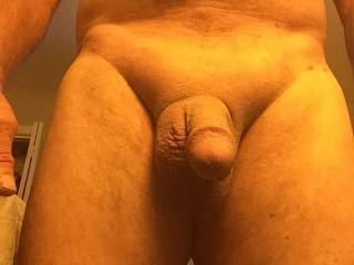 Fresh from shower and freshly shaved
