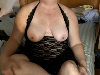 Showing of her tits and Sexy Lingerie