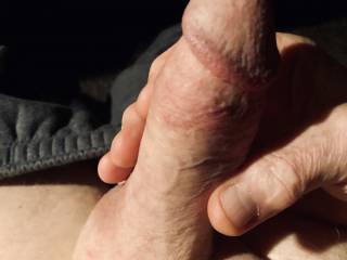 Love to squeeze my fat swollen cock.