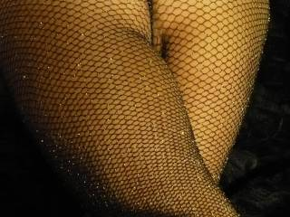 "i asked my girlfriend ""what does one wear with glitter fishnet stockings?"" she answered ""ideally, nothing!"" what is your opinion?"