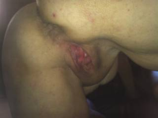 Both first with my tongue then I would like to cock into your hot sticky pussy then in your hot ass.
