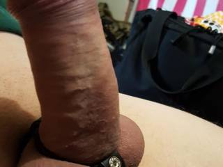 Playing with one of my cock rings
