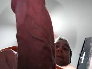 This is another shot of the underside of my rock hard thick 7 inch cock. Would you like to suck it or have it inside of you?
