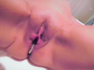 My treated pussy open for you