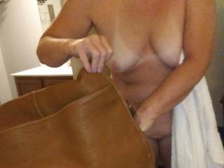 All her sex toys are in the bag