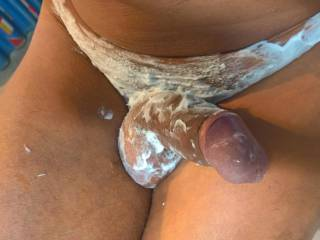 Shaving my dick...