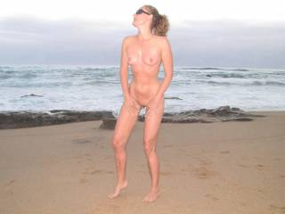 naked on the beach get habit forming.......and fun