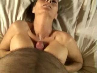 That was 100% Hot! MMMMMMMMMMMMM! Nice CUM MESS on her Hot Sexy Huge Breasts. WOOOOOOOOOW!