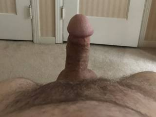 Was away from home and woke up with a really nice erection. Needed a nice, friendly had to help me work it out.