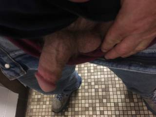 Hanging out in the public bathroom