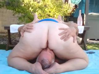 My Sweet Plump Wife smothers me with her big white ass.  Heaven!
