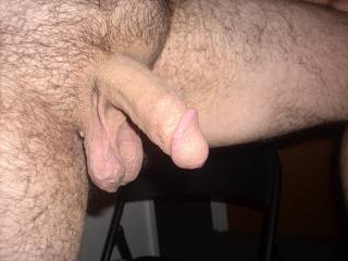 this is how my cock looks half erect whos's going to suck on them