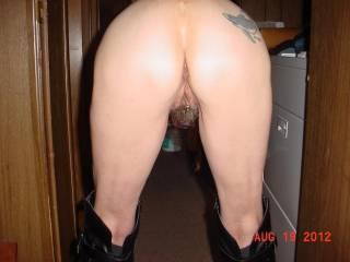 Great view, looks inviting love to walk up behind you and slide my thick curved cock balls deep inside