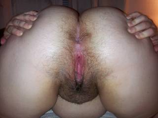 love to suck that hairy butt and lick your hairy pussy