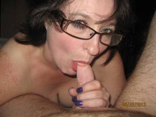 She would love having my thick massive black cock grow harder and THICKER in her mouth reaching her throat giving it a slight tickle and she would get very wet at her pussy!