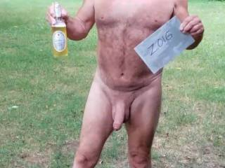 enjoying the day with a cold one, you should cum join me